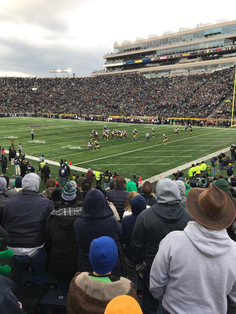 Seating view for Notre Dame Stadium Section 5 Row 23 Seat 2
