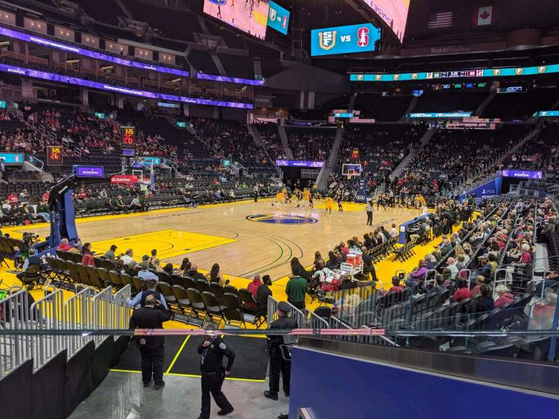 Seating view for Chase Center Section 107 Row 7 Seat 3