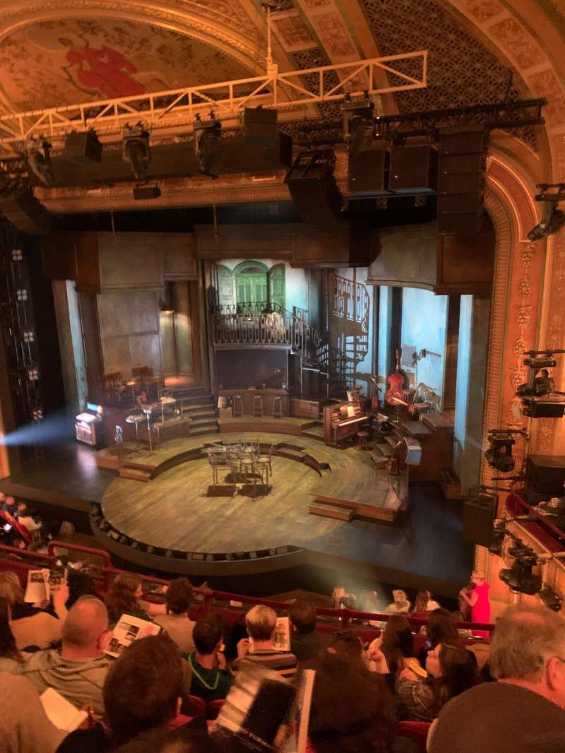 Seating view for Walter Kerr Theatre Section Mezzanine R Row F Seat 14