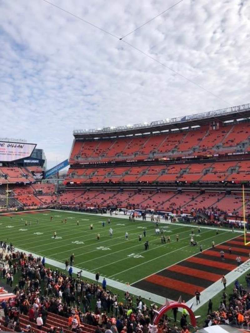 Seating view for FirstEnergy Stadium Section 340 Row 1 Seat 11