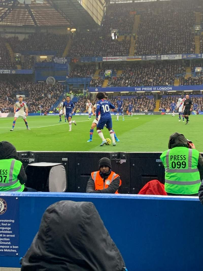 Seating view for Stamford Bridge Section West Stand Lower 7 Row 4 Seat 166