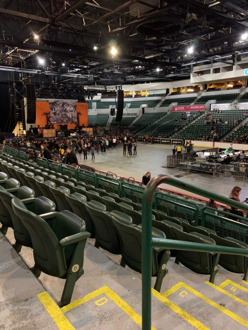 Seating view for Cure Insurance Arena Section 113 Row E Seat 213