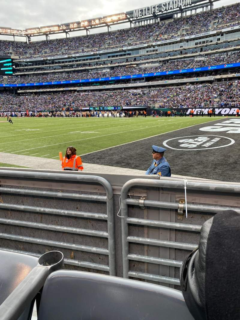 Seating view for MetLife Stadium Section 108 Row 2 Seat 5