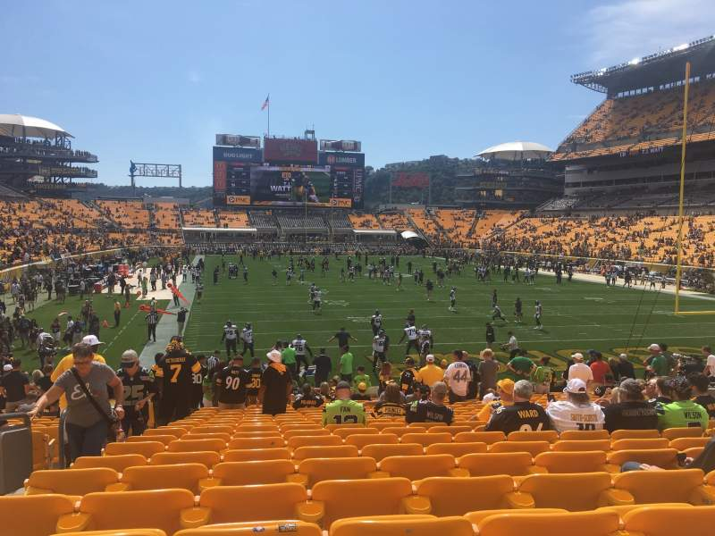 Seating view for Heinz Field Section 121 Row U Seat 19