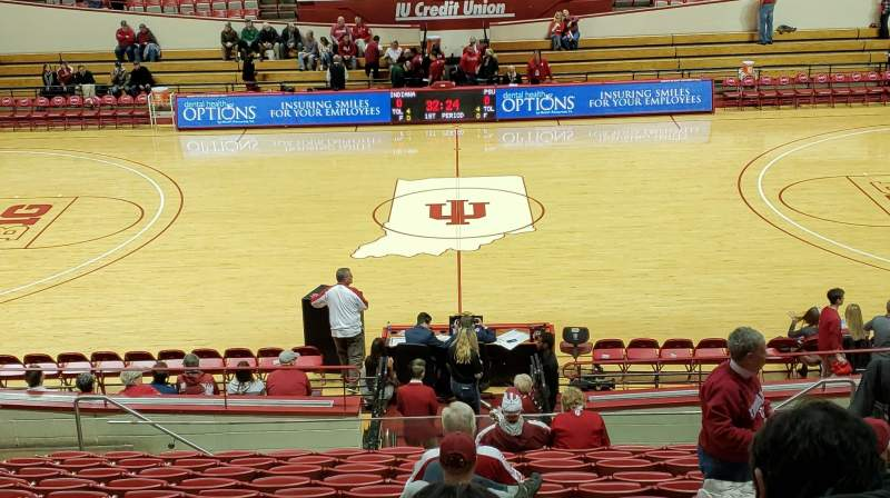 Seating view for Simon Skjodt Assembly Hall Section J Row 14 Seat 10