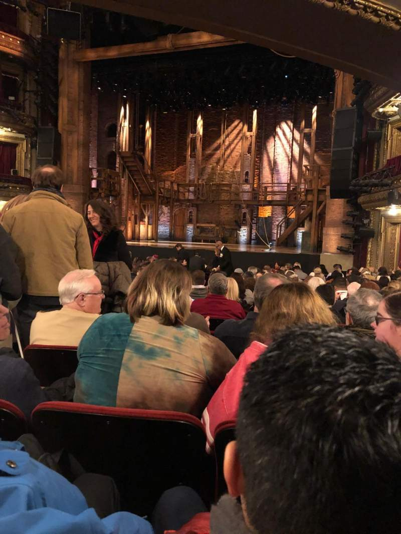 Seating view for CIBC Theatre Section Orchestra R Row U Seat 4