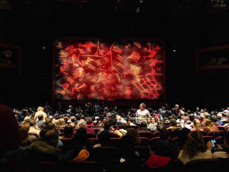 Seating view for Minskoff Theatre Section Orchestra C Row X Seat 116