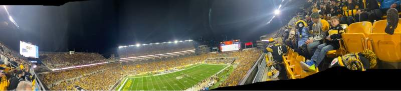 Seating view for Heinz Field Section 532 Row A Seat 14