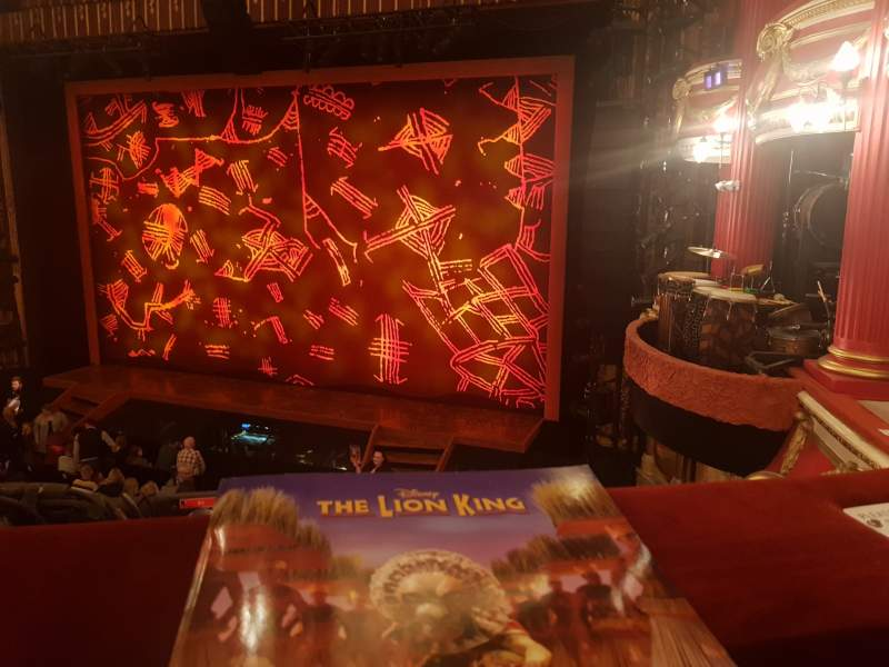 Seating view for Bristol Hippodrome Section Grand Circle Row A Seat 5