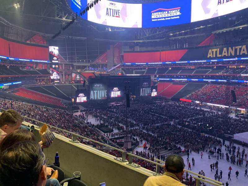 Seating view for Mercedes-Benz Stadium Section 231 Row 2 Seat 1