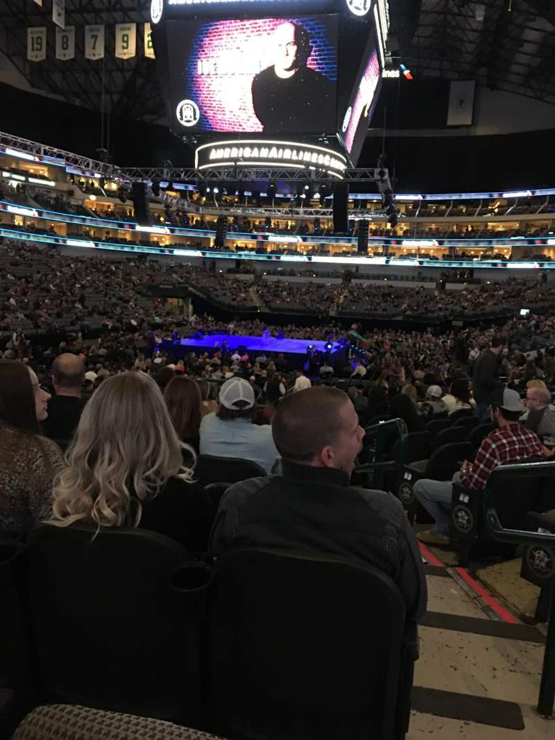 Seating view for American Airlines Center Section 124 Row K Seat 2