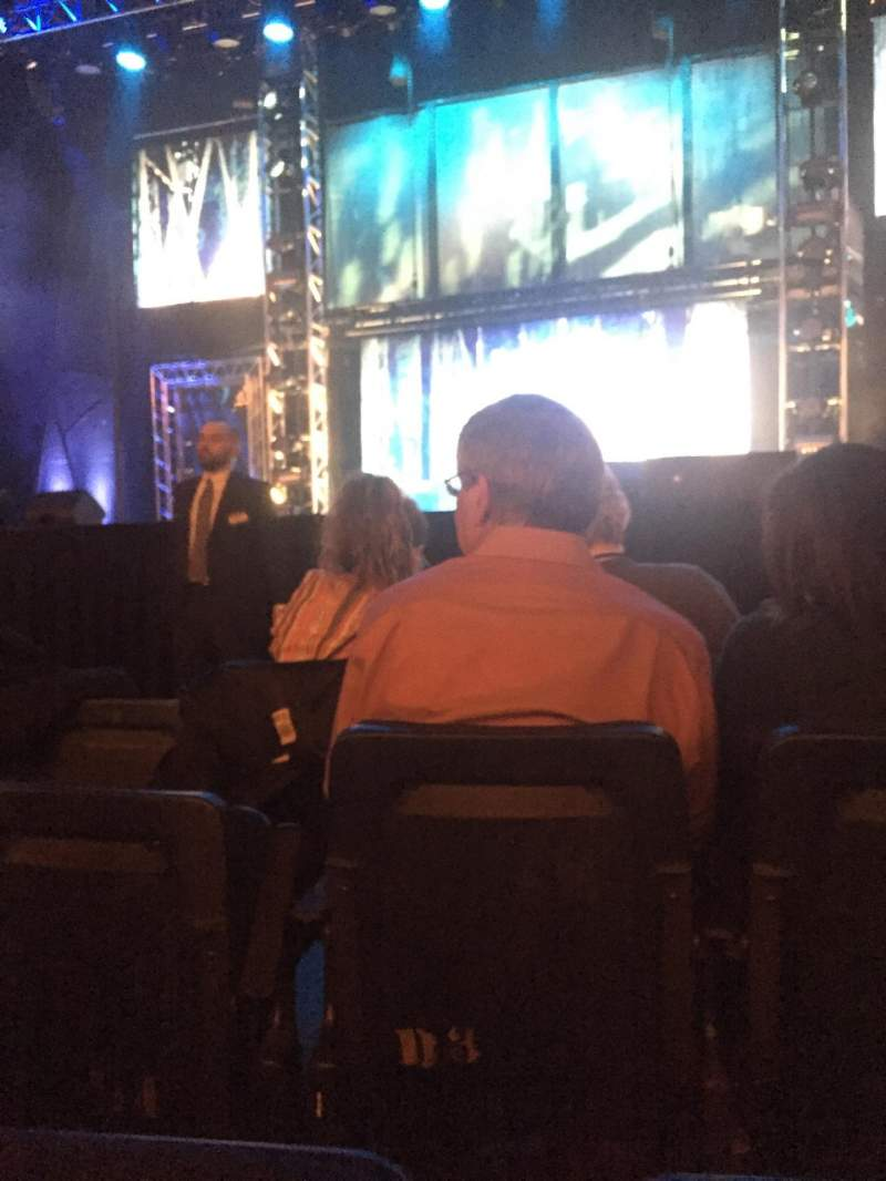 Seating view for Hulu Theater at Madison Square Garden Section 100 Row A Seat 15