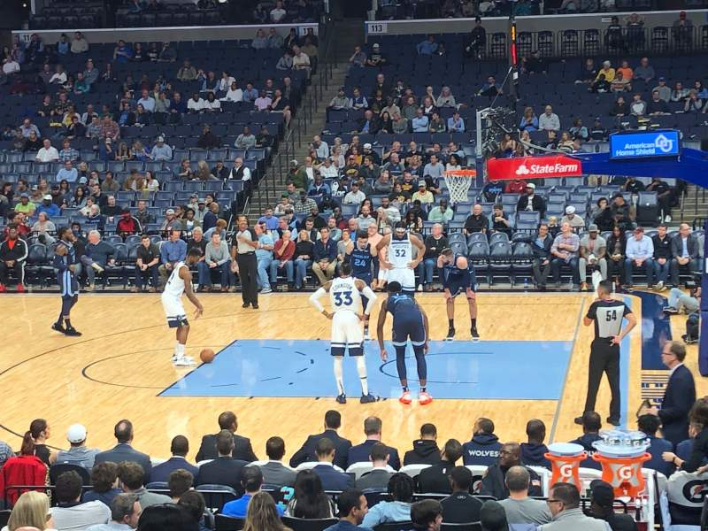 Seating view for FedEx Forum Section 106 Row S Seat 6
