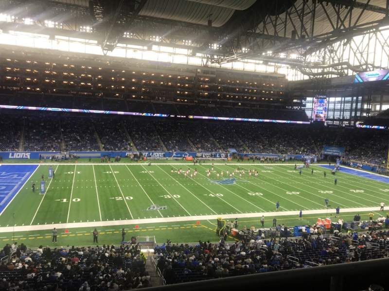 Seating view for Ford Field Section 228 Row 2 Seat 5