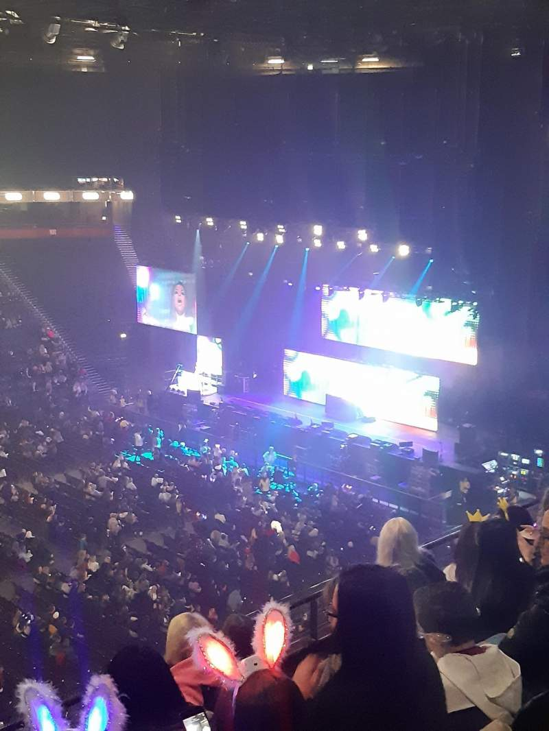 Seating view for Manchester Arena Section 213 Row E Seat 7