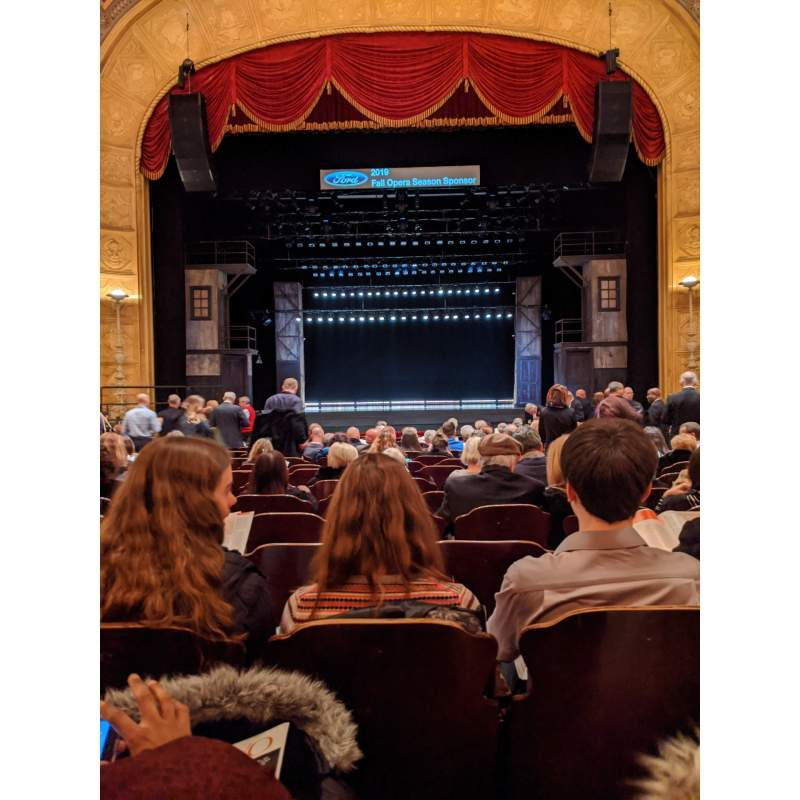 Seating view for Detroit Opera House Section Main Floor 1 Row S Seat 208