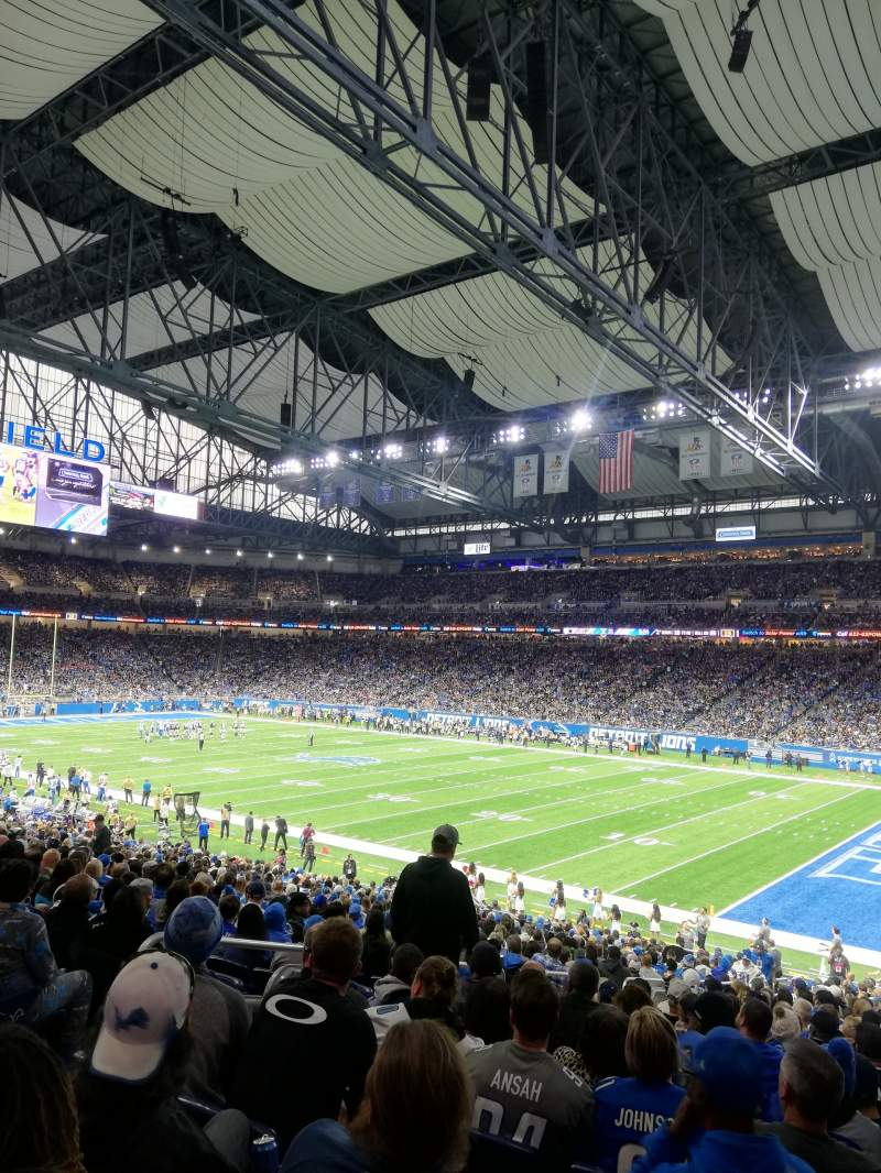 Seating view for Ford Field Section 111 Row 31 Seat 6