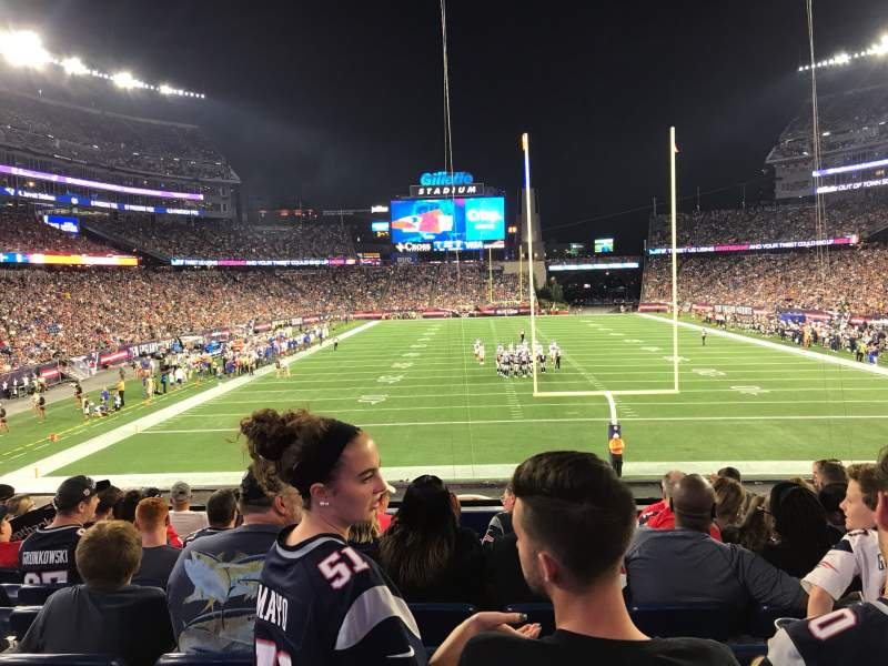 Seating view for Gillette Stadium Section 121 Row 26 Seat 9