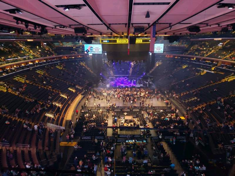 Seating view for Madison Square Garden Section 301 Row 1 Seat 3