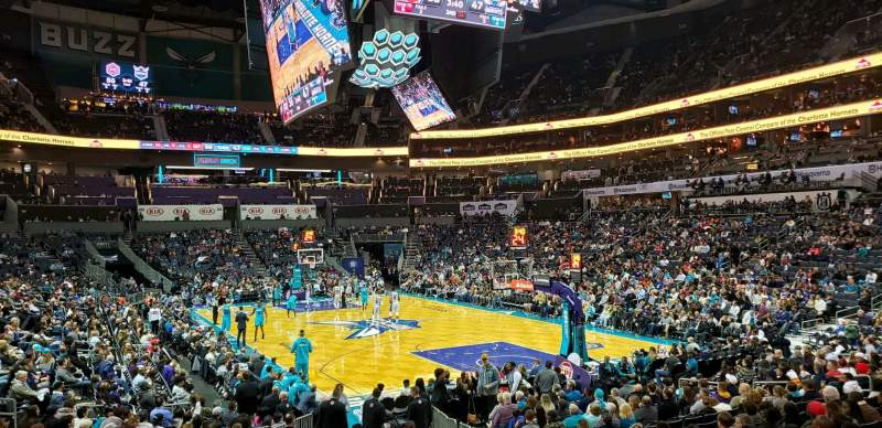 Seating view for Spectrum Center Section 102 Row P Seat 7