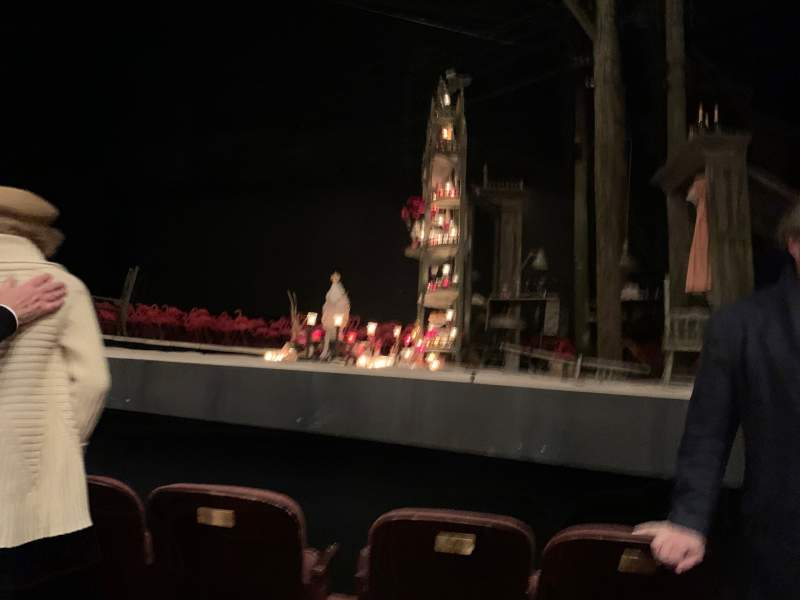 Seating view for American Airlines Theatre Section Orchestra center Row B Seat 102
