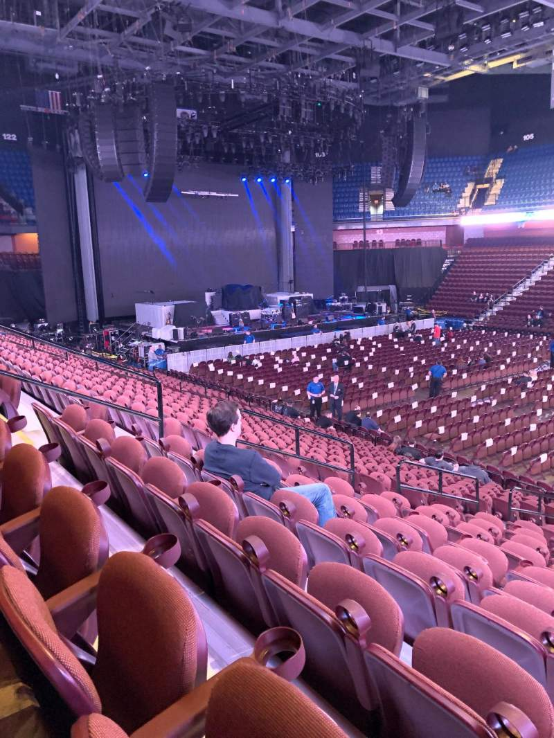 Seating view for Mohegan Sun Arena Section 23 Row S Seat 12