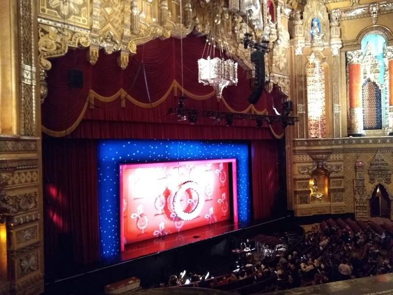Seating view for Fox Theatre (Detroit) Section Mezzanine Row Aa Seat 205