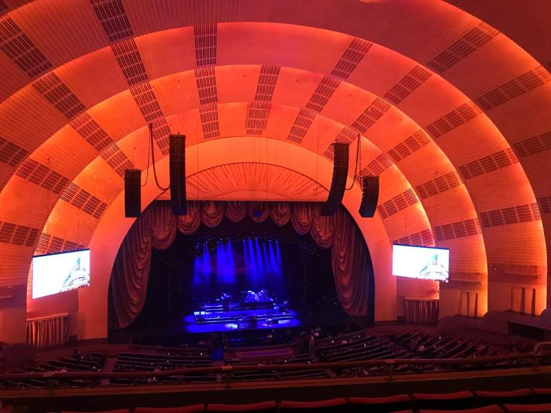 Seating view for Radio City Music Hall Section 2ND Mezzanine 5 Row E Seat 509
