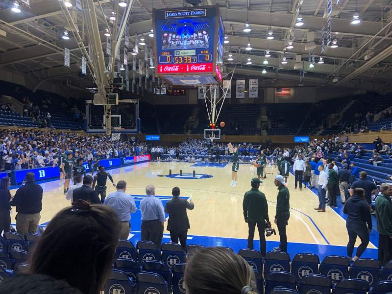 Seating view for Cameron Indoor Stadium Section 20 Row 5 Seat GA