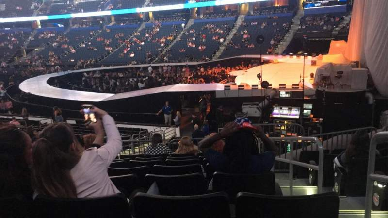 Seating view for Amalie Arena Section 128 Row W Seat 17