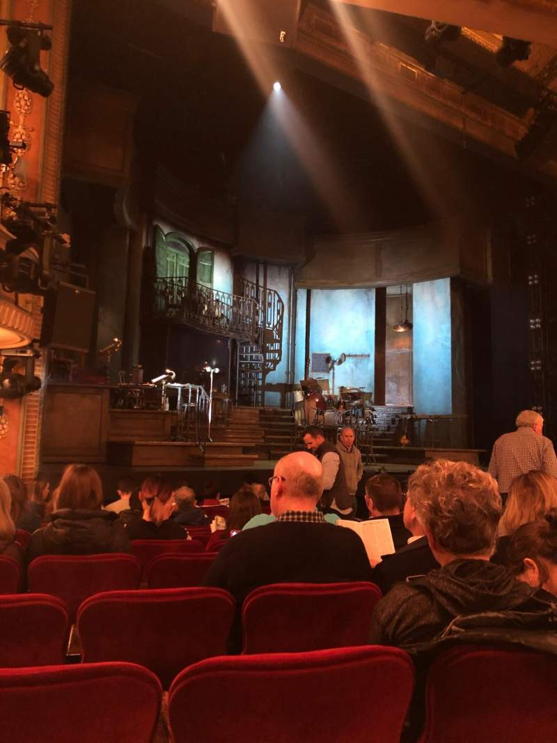 Seating view for Walter Kerr Theatre Section Orchestra L Row M Seat 13