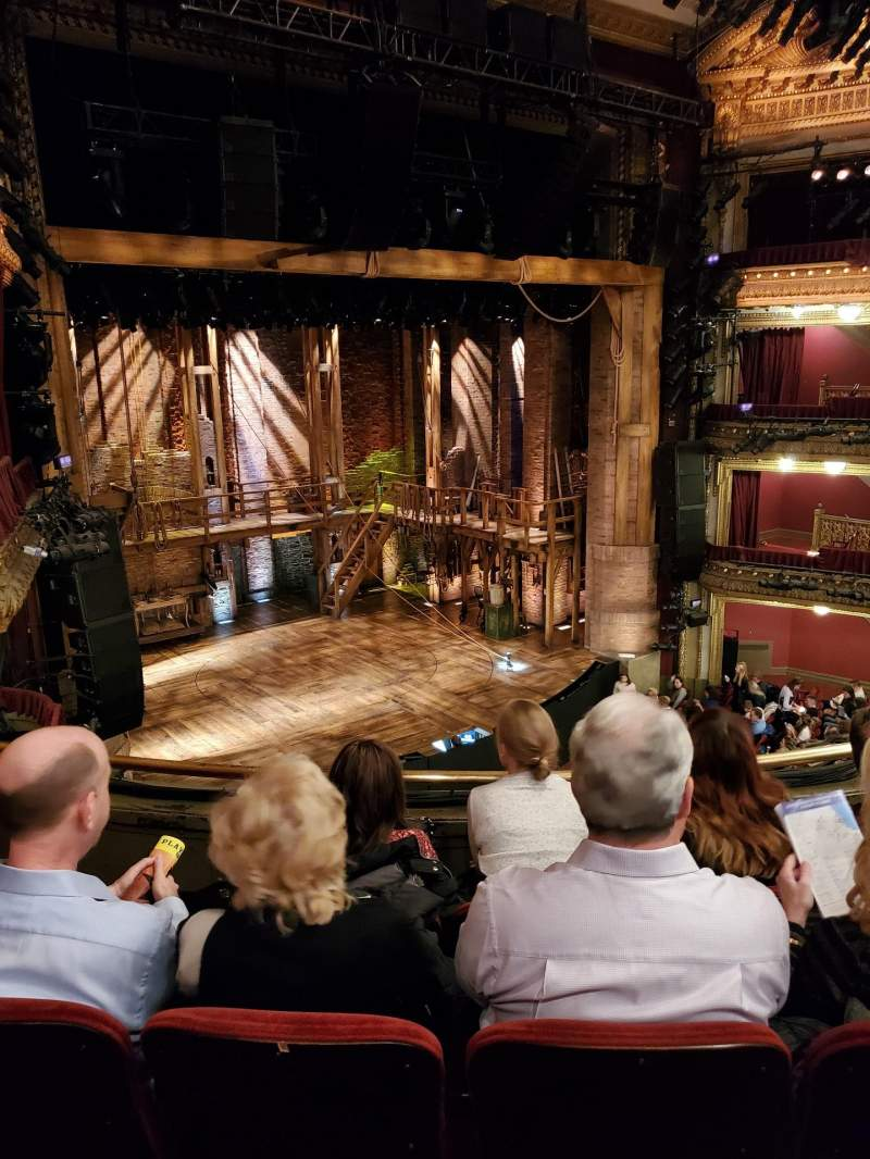 Seating view for CIBC Theatre Section Mezzanine L Row D Seat 13