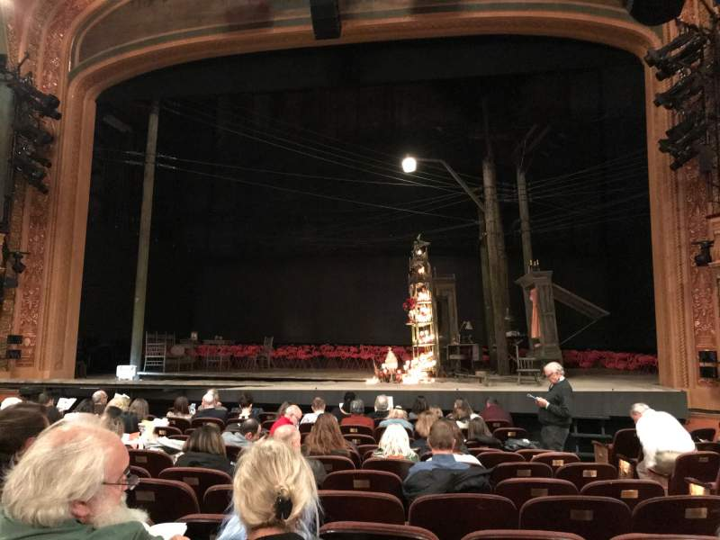 Seating view for American Airlines Theatre Section Orchestra C Row L Seat 102