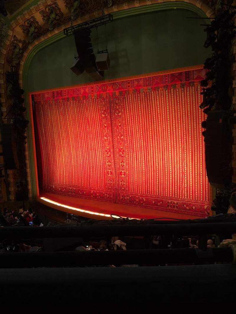 Seating view for New Amsterdam Theatre Section Mezzanine R Row BB Seat 18
