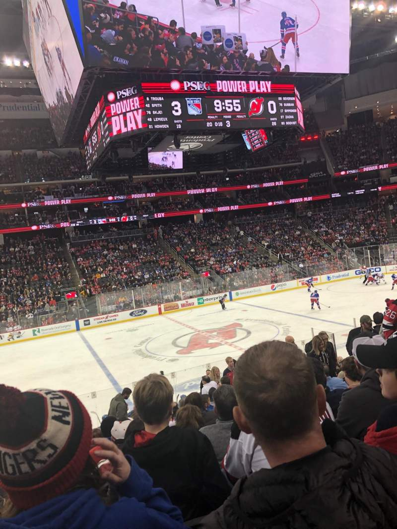 Seating view for Prudential Center Section 7 Row 17 Seat 8