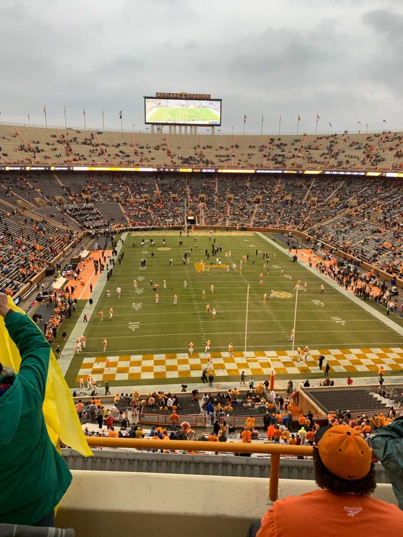 Seating view for Neyland Stadium Section YY9 Row 3 Seat 13