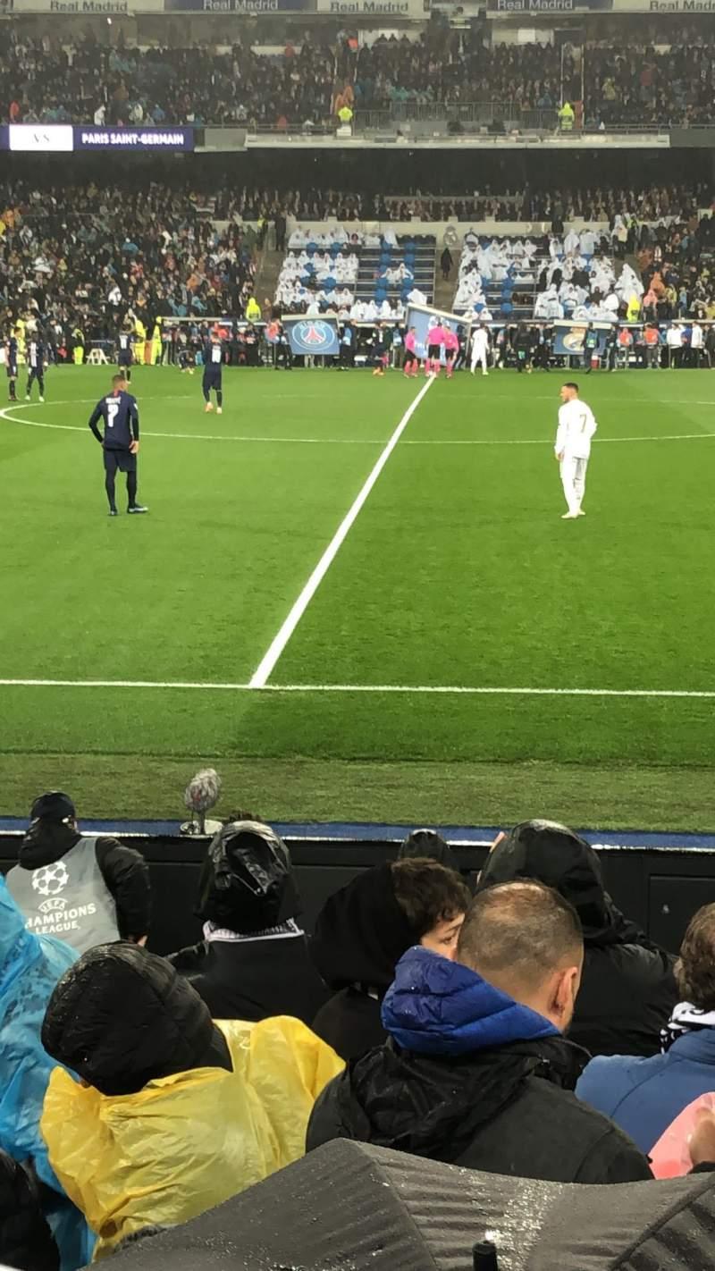 Seating view for Santiago Bernabéu Stadium Section 102 Row 7 Seat 02