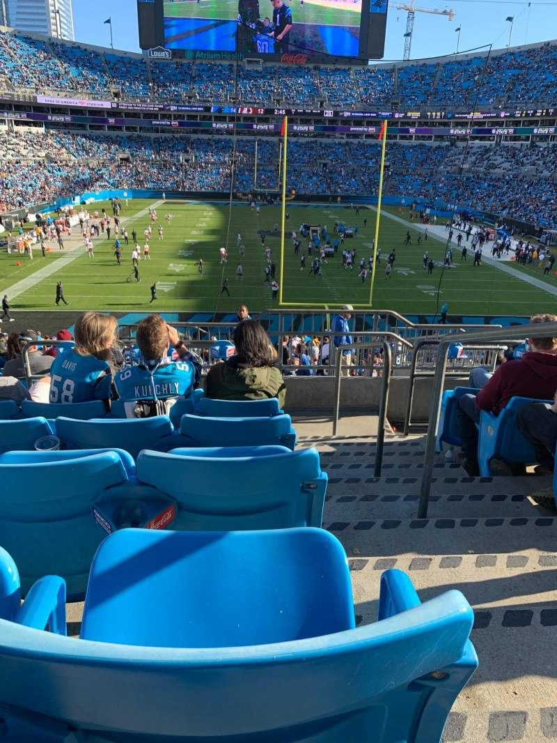 Seating view for Bank of America Stadium Section 202 Row 11 Seat 1