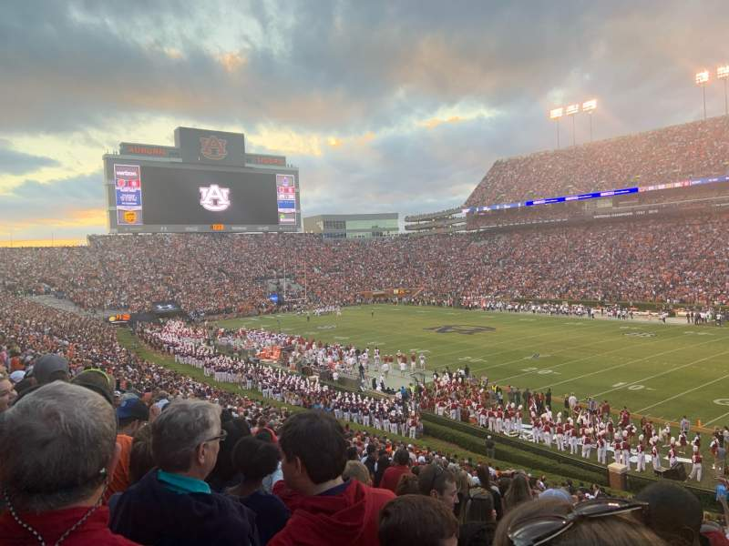 Seating view for Jordan-Hare Stadium Section 34 Row 35 Seat 1