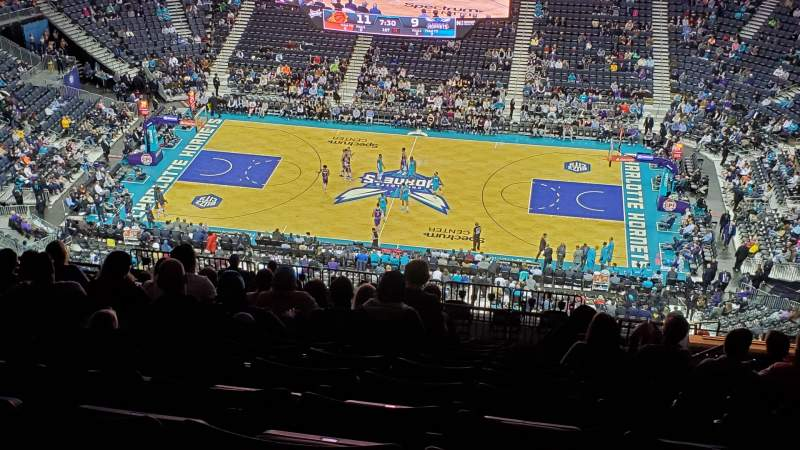 Seating view for Spectrum Center Section 208 Row R Seat 5