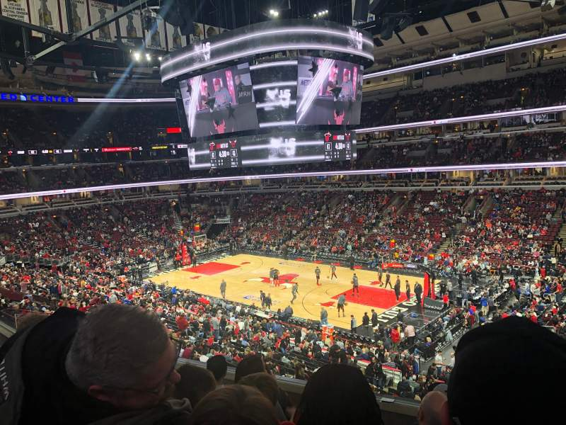 Seating view for United Center Section 231 Row 5 Seat 5