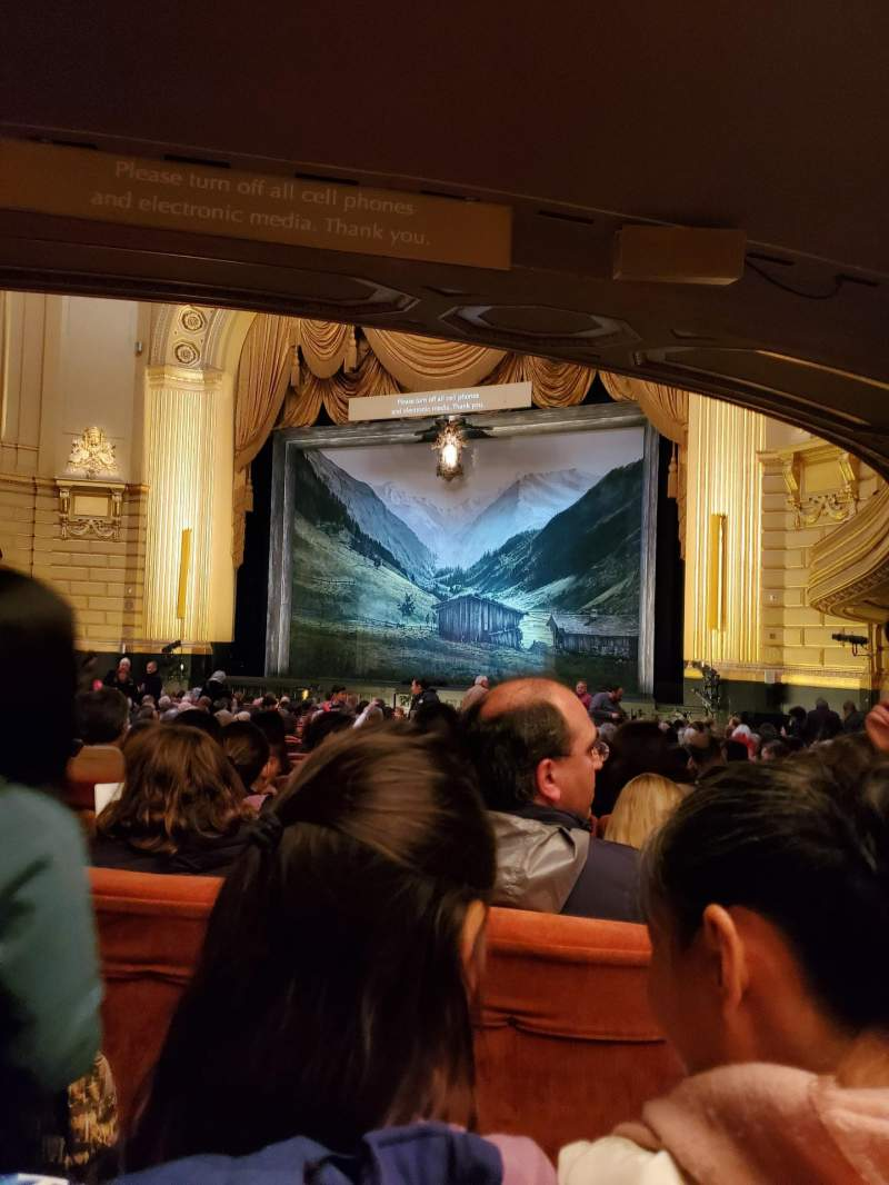 Seating view for War Memorial Opera House Section Orchestra Row Y Seat 14