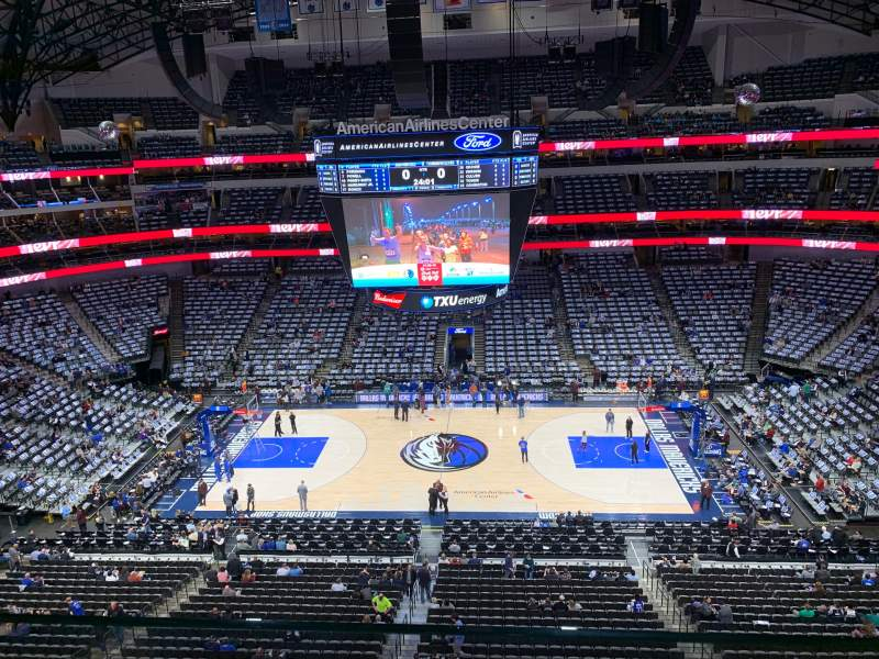 Seating view for American Airlines Center Section 309 Row A Seat 13