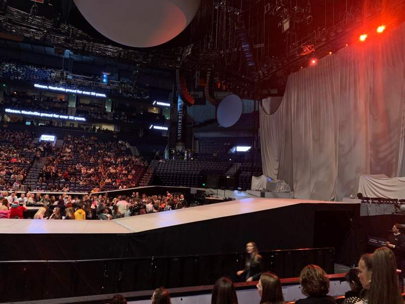 Seating view for Bridgestone Arena Section 107 Row FF Seat 14