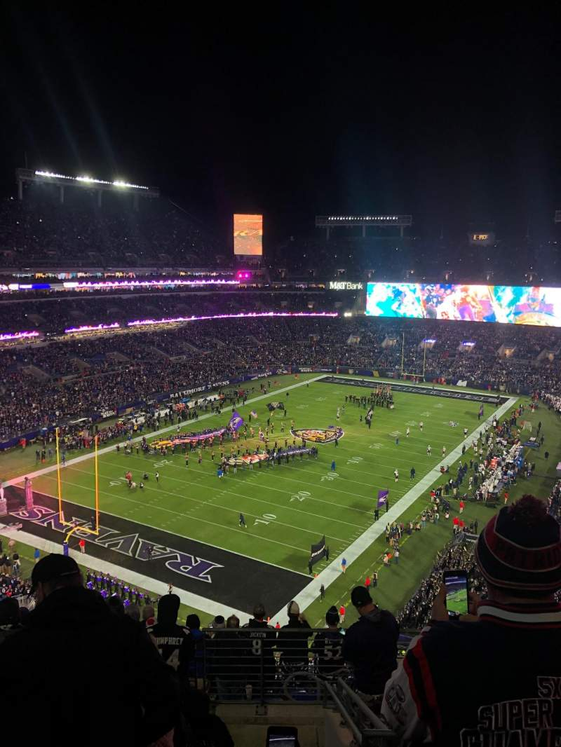 Seating view for M&T Bank Stadium Section 509 Row 11 Seat 4