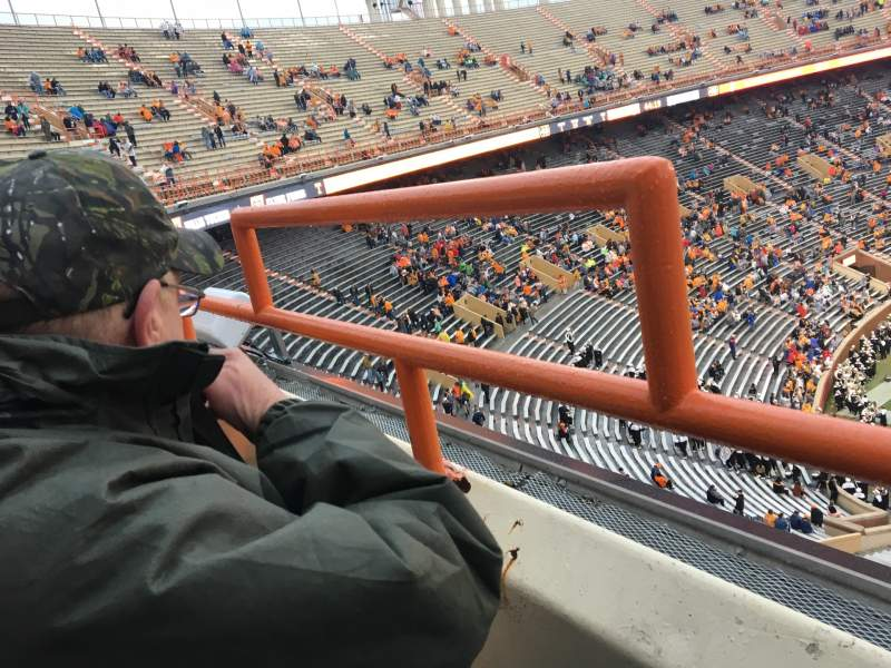 Seating view for Neyland Stadium Section EE Row 1 Seat 31