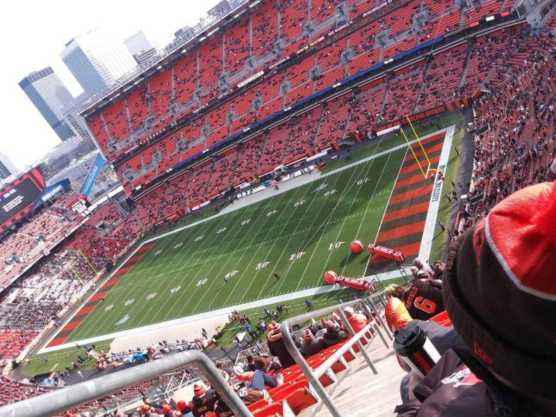 Seating view for FirstEnergy Stadium Section 501 Row 31 Seat 4