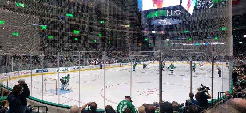 Seating view for American Airlines Center Section 111 Row H Seat 6