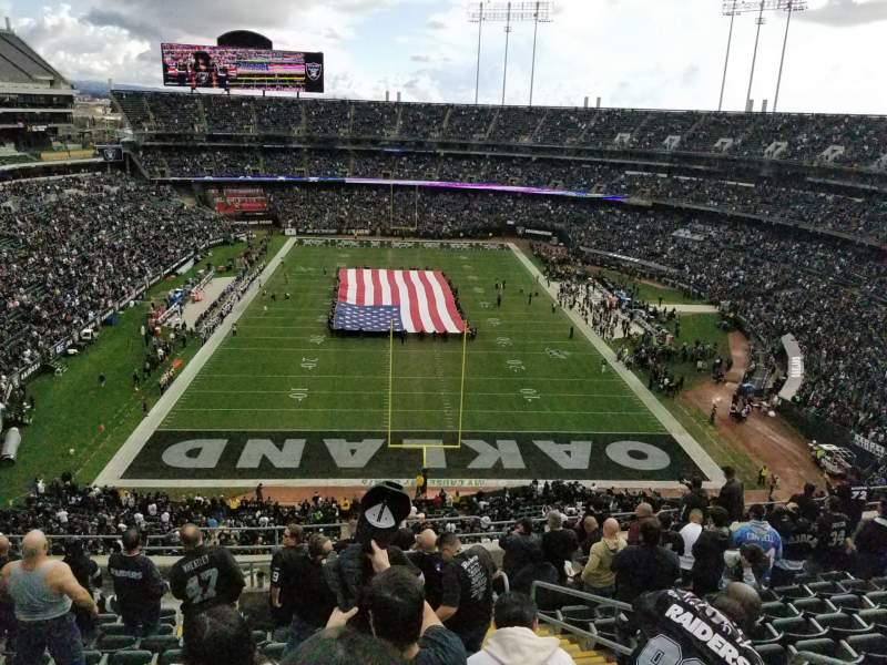 Seating view for Oakland Coliseum Section 329 Row 12  Seat 4