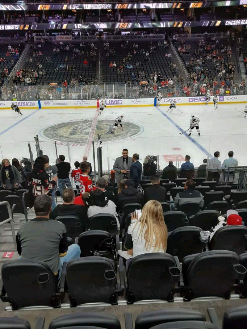 Seating view for T-Mobile Arena Section 6 Row G Seat 2